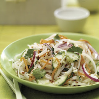 Cold Rice Noodle Salad with Spicy Lime Vinaigrette.