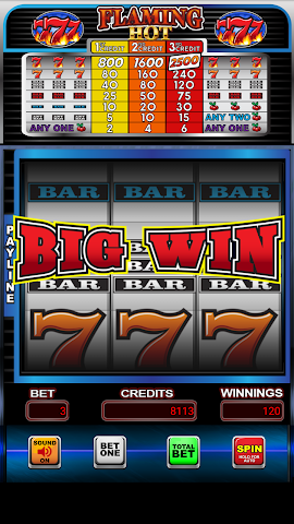 android Flaming Hot 7's Casino Slots Screenshot 1