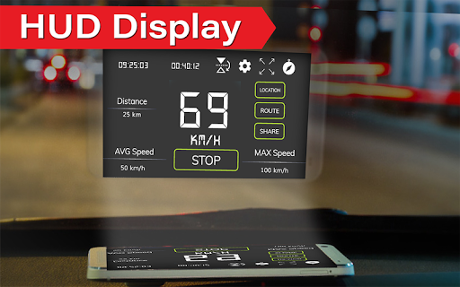 Digital Speedometer - GPS Offline odometer HUD Pro  screenshots 5