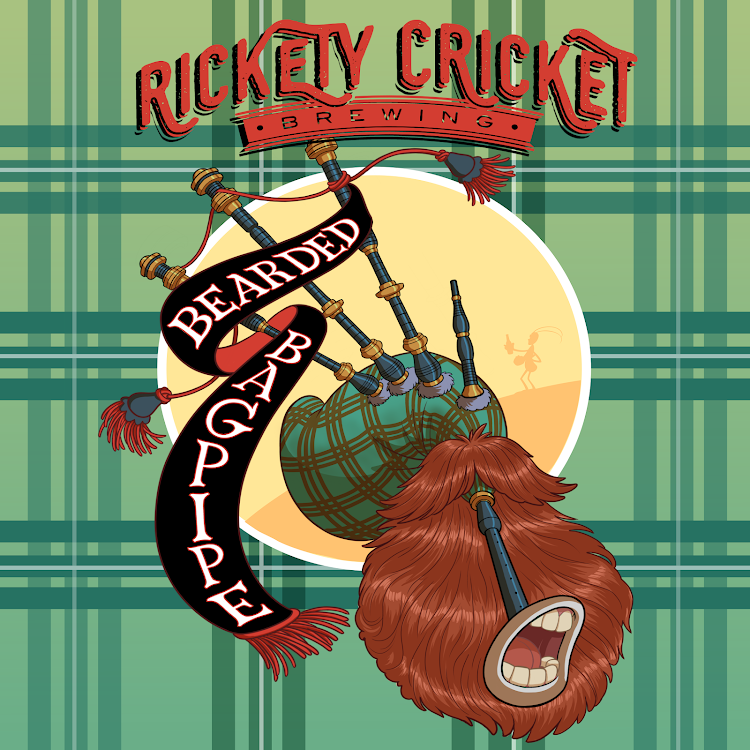 Logo of Rickety Cricket Brewing Bearded Bagpipe