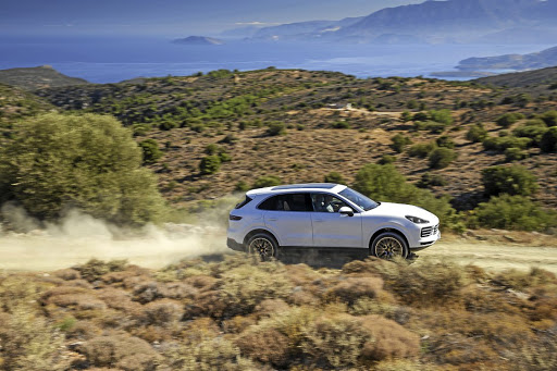 The all-new Porsche Cayenne can hold its own off-road, thanks to its active all-wheel drive system.