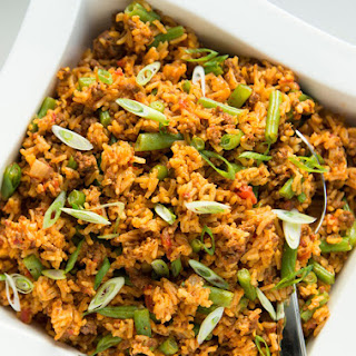 Beef and Tomato Rice Casserole.