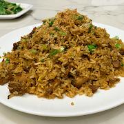 87. Fried Rice with Braised Pork Belly 梅菜扣肉炒飯