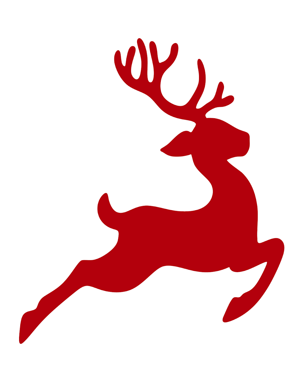 Free reindeer printable for the holidays