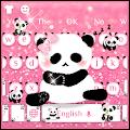 Cute Panda Pink Keyboard