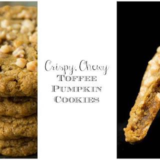 Crispy ChewyToffee Pumpkin Cookies.