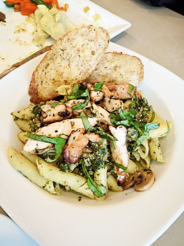 Vaneaty Resto Cafe Pesto Pasta with Grilled Chicken