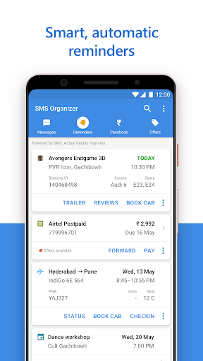 SMS Organizer - Clean, Reminders, Offers & Backup 1.1.139 screenshots 2