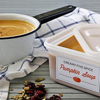 Creamy Five Spice Pumpkin Soup