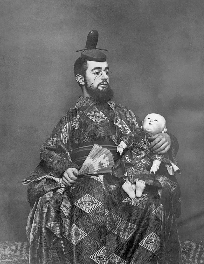 Fotografia de Henri de Toulouse-Lautrec em roupas Japonesas, c. 1890, Museu de Arte Moderna, Nova York