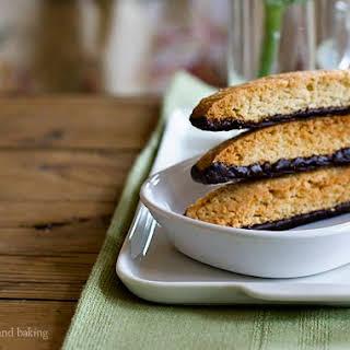 Chocolate-Dipped Almond-Orange Biscotti.