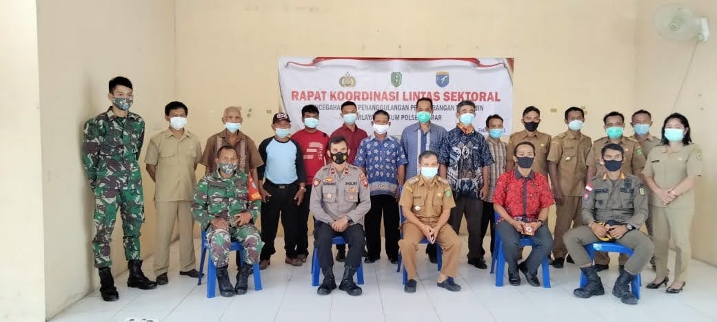 Rakor Lintas Sektoral Pencegahan dan Penanggulangan PETI di Kecamatan Lumar