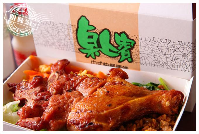 桌上賓中式快餐排骨加雞腿