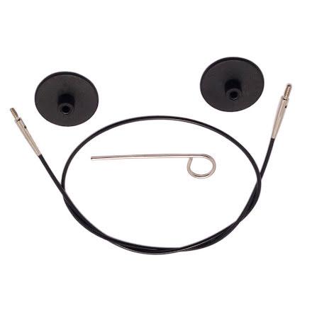 KnitPro Enkelkabel [svart]