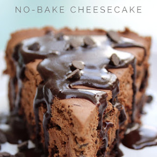 Fudge Brownie No-Bake Cheesecake.
