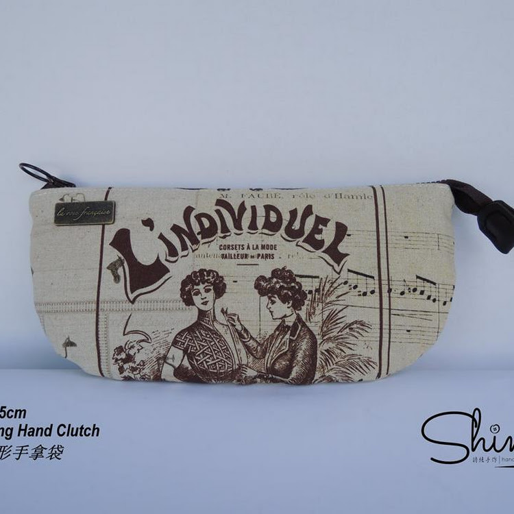 Handmade 21.cm Hand Clutch (Lindividuel) by Shiney Craft & Zakka 诗绫手作