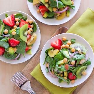 Strawberry Kiwi Chickpea Salad