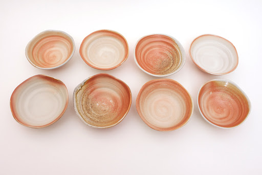 Sandy Lockwood Set of 8 Ceramic Bowls entitled 'Transition'