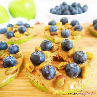 Blueberry Pistachio Apple Sandwiches (Paleo, Low Carb)