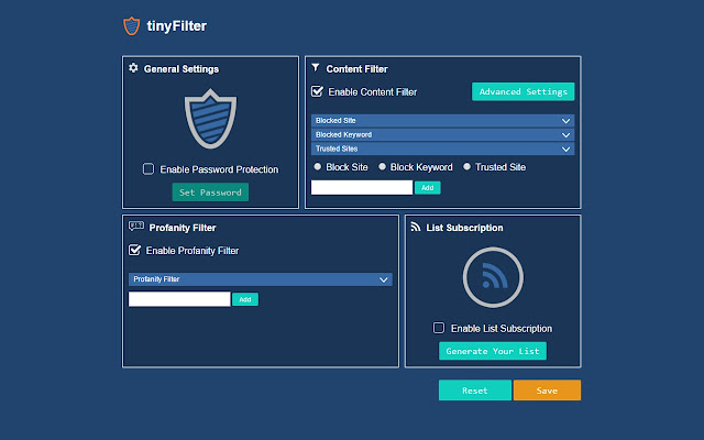 Protect your family from offensive content and sex-adult sites. Tiny  WebFilter PRO is the best Anti-Porn (Parental Control) addon.