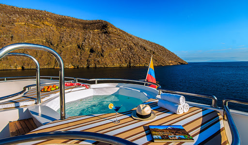 Relax in the whirlpool on the sun deck of Avalon Waterways' Treasure of Galapagos.