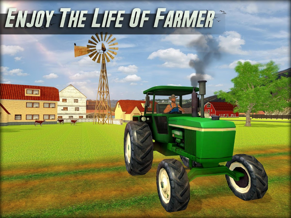 Virtual farmer simulator farming game 3d android apps for Online house builder simulator
