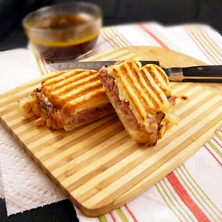 French Dip Panini with Stout Au Jus