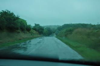 Photo: BRETANYA 2013. PLOUARZEL, carretera i pluja prop del Phare de Trézien.