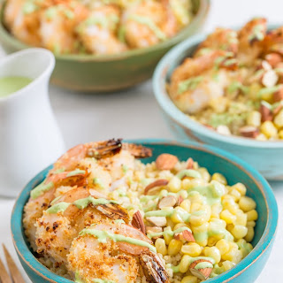 Millet Bowl with Breaded Garlic Shrimp