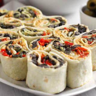 Cheesy Tex Mex tortilla roll-ups.