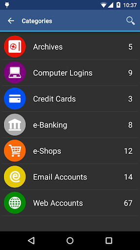 Screenshot for aWallet Cloud Password Manager in United States Play Store