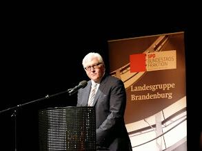 Frank-Walter Steinmeier bei seinem Besuch im Jahr 2014 in Schwedt. Damals noch als Außenminister. Archivbild: Andreas Schwarze (asc)