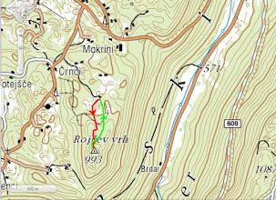 Photo: pristop na Rojčev vrh