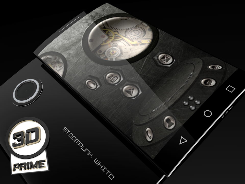 Steampunk White theme for Next Launcher (Prime)- screenshot