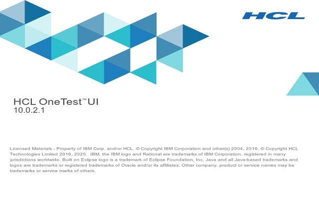 HCL OneTest™ UI - Web UI