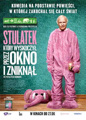 Przód ulotki filmu 'Stulatek, Który Wyskoczył Przez Okno i Zniknął'