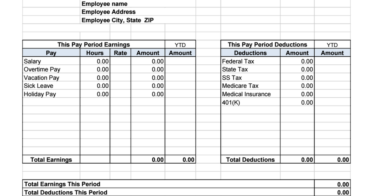 Payslip Template Doc. salary slip template best word templates ...