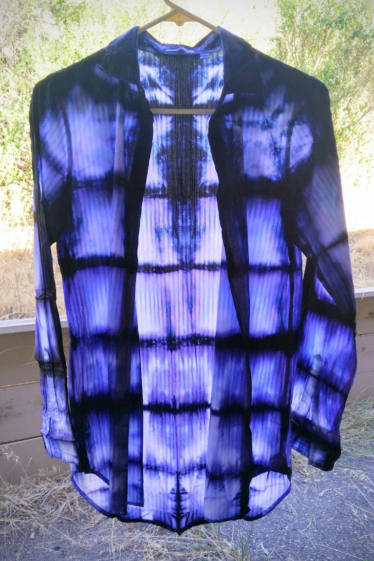 In-Progress: Bind Resist Dye Shirt, Square Accordion Fold Style - DIY Fashion Garment | fafafoom.com