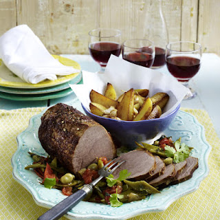 Roast Beef with Mixed Vegetables.