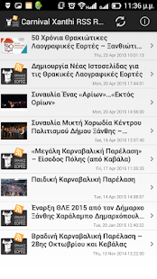 Carnival Of Xanthi RSS Reader- screenshot thumbnail