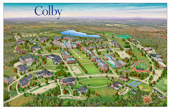 Photo: Campus map for Colby College, Maine For Mapformation LLC 2012