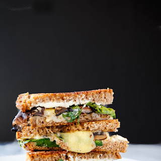 Stuffed Mushroom Grilled Cheese