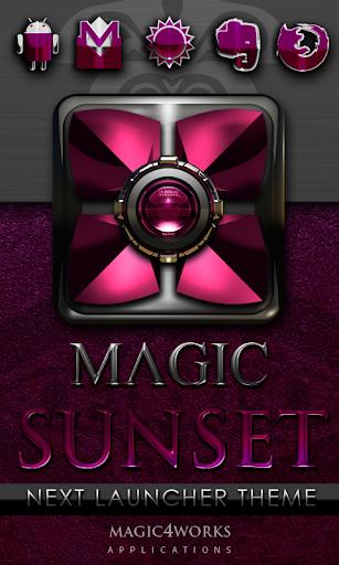 Next Launcher Theme Magic Sun