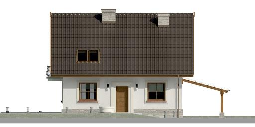 Dom przy Cyprysowej 20 P - Elewacja przednia