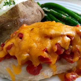 Chicken with Rotel and Cheddar.