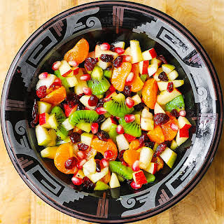 Winter Fruit Salad with Maple-Lime Dressing.