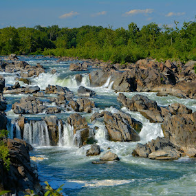 Great Falls Moments by Jim Schlett - Landscapes Waterscapes ( nps, water, great falls, stream, waterfalls, virginia, river )