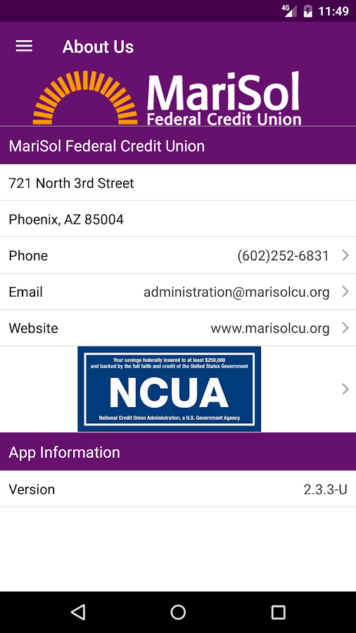 MariSol FCU- screenshot