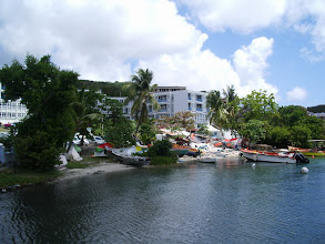 Photo: Local fishing boats in Martinique