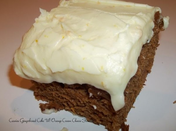 Gingerbread Cake W/ Orange Cream Cheese Frosting Recipe